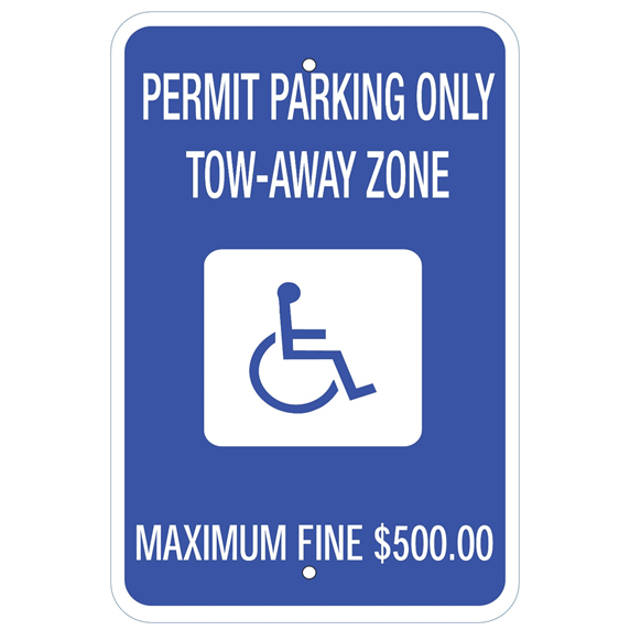 Georgia-Permit Parking Only Sign - U.S. Signs and Safety