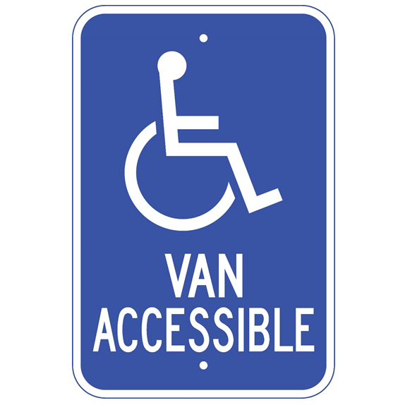 Handicap Van Accessible Sign - U.S. Signs and Safety