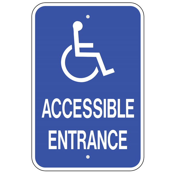 Handicap Accessible Entrance Sign - U.S. Signs and Safety