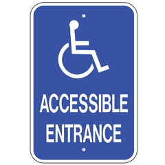 handicap accessible entrance double arrow sign u s signs and safety
