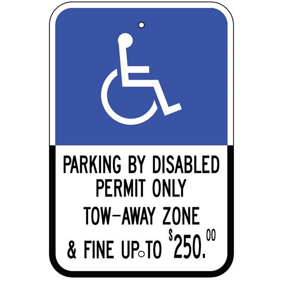 Florida-Parking By Disabled Permit Only Tow-Away Sign - U.S. Signs and Safety