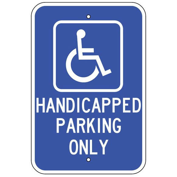 Handicap Parking Only Sign - U.S. Signs and Safety