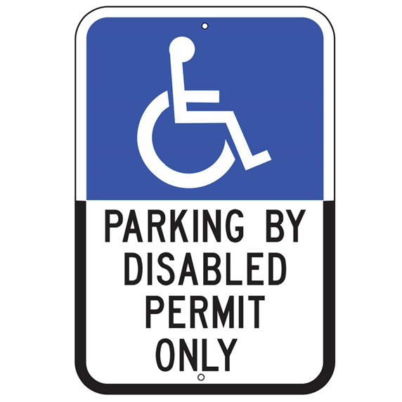 Florida-Parking By Disabled Permit Only Sign - U.S. Signs and Safety