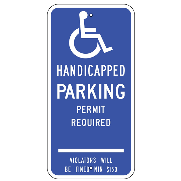 Connecticut-Handicap Parking Permit Sign - U.S. Signs and Safety