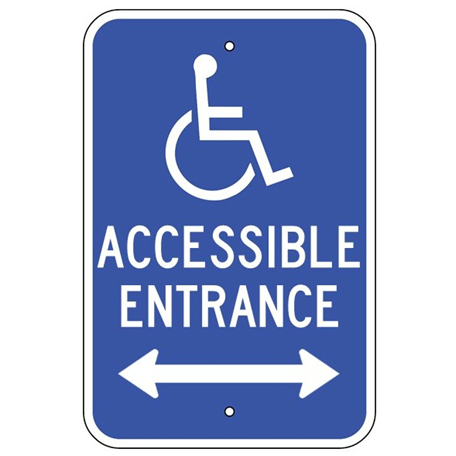 Handicap Accessible Entrance Double Arrow Sign - U.S. Signs and Safety