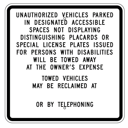 California-Unauthorized Vehicles Parking Sign - U.S. Signs and Safety