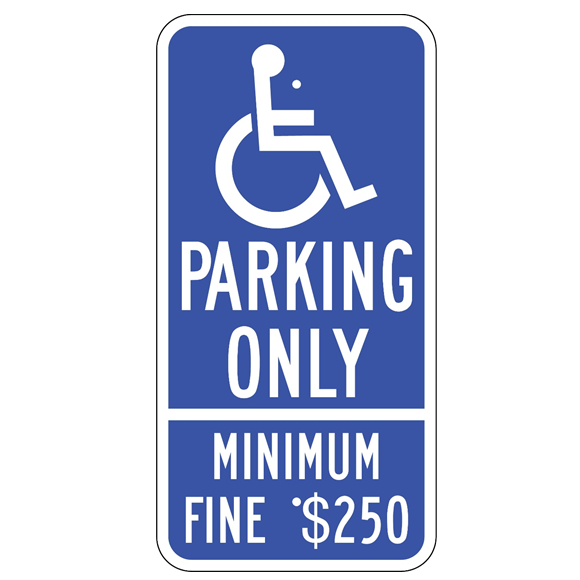 California-Handicap Parking Only Sign - U.S. Signs and Safety