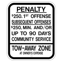 New Jersey-Parking Penalty Sign - U.S. Signs and Safety