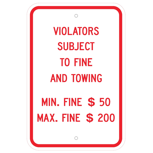 Pennsylvania-Violators Parking Sign - U.S. Signs and Safety