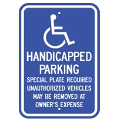 Massachusetts-Handicap Parking Sign - U.S. Signs and Safety