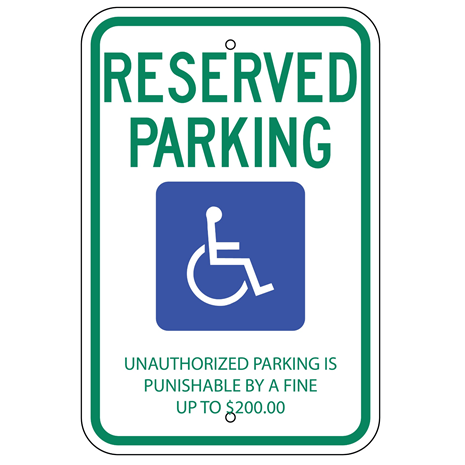 Tennessee-Reserved Parking Sign - U.S. Signs and Safety