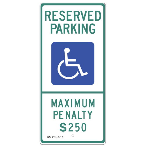 North Carolina-Handicap Reserved Parking Sign - U.S. Signs and Safety