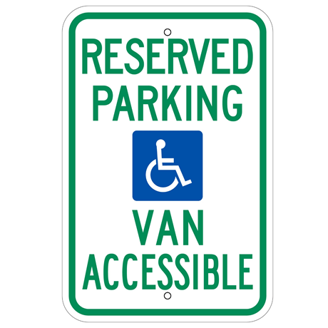 *HANDICAP RESERVED PARKING (VAN ACCESSIBLE) SIGN - U.S. Signs and Safety