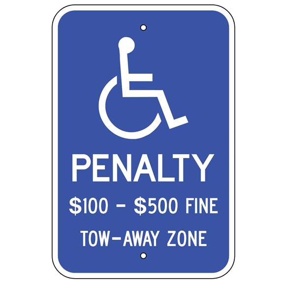 Virginia-Handicap Penalty Sign - U.S. Signs and Safety