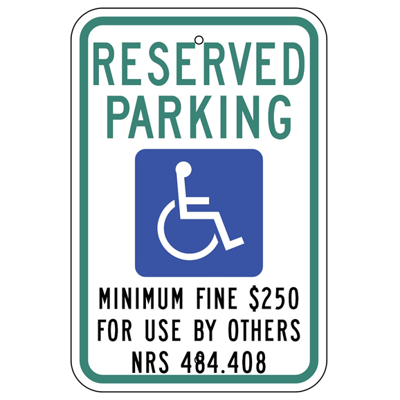 Nevada-Reserved Parking Sign - U.S. Signs and Safety