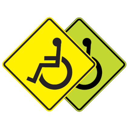 Handicap Crossing Symbol Sign - U.S. Signs and Safety - 1