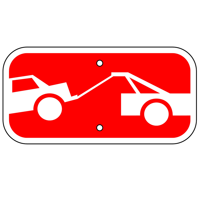 Tow-Away Zone Symbol Sign - U.S. Signs and Safety