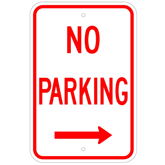 No Parking Right Arrow Sign - U.S. Signs and Safety