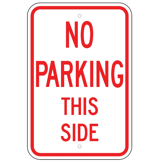 No Parking This Side Sign - U.S. Signs and Safety
