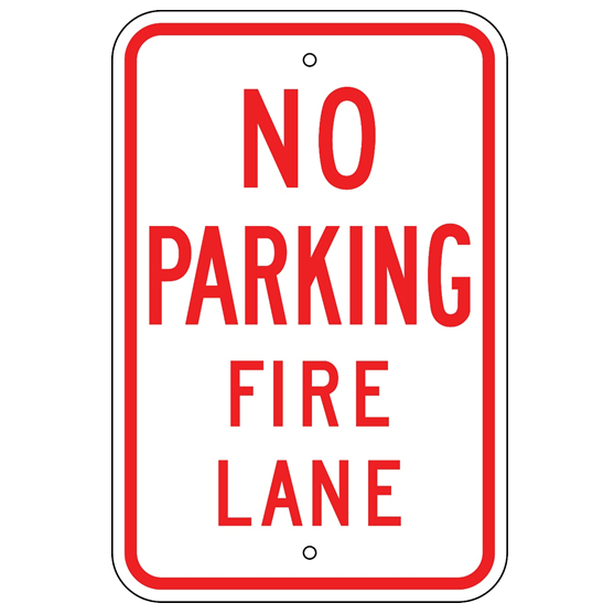 No Parking Fire Lane Sign - U.S. Signs and Safety
