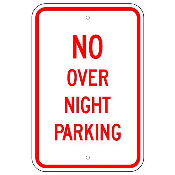 No Over Night Parking Sign - U.S. Signs and Safety