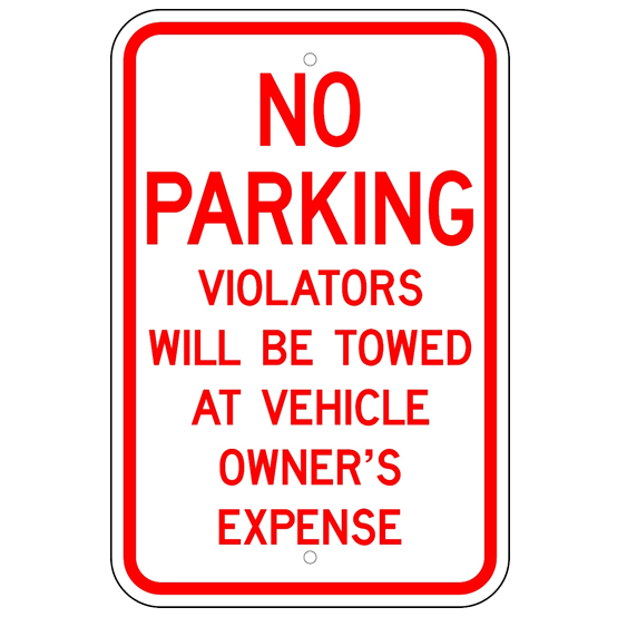 No Parking Violators Will Be Towed Sign - U.S. Signs and Safety