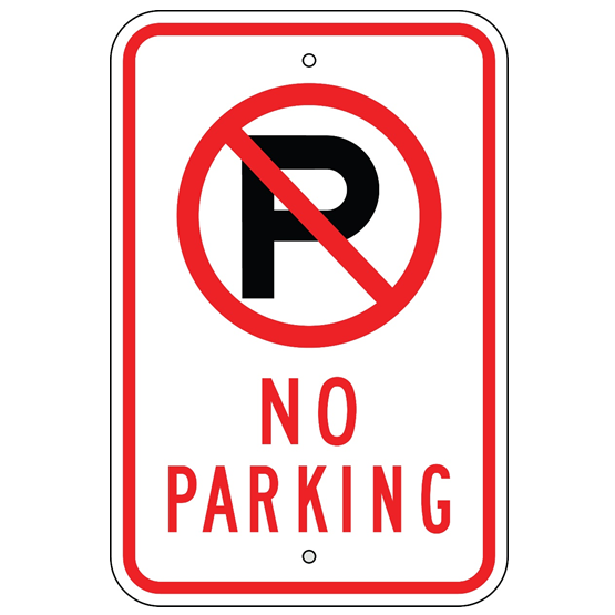 No Parking Symbol and Text Sign - U.S. Signs and Safety