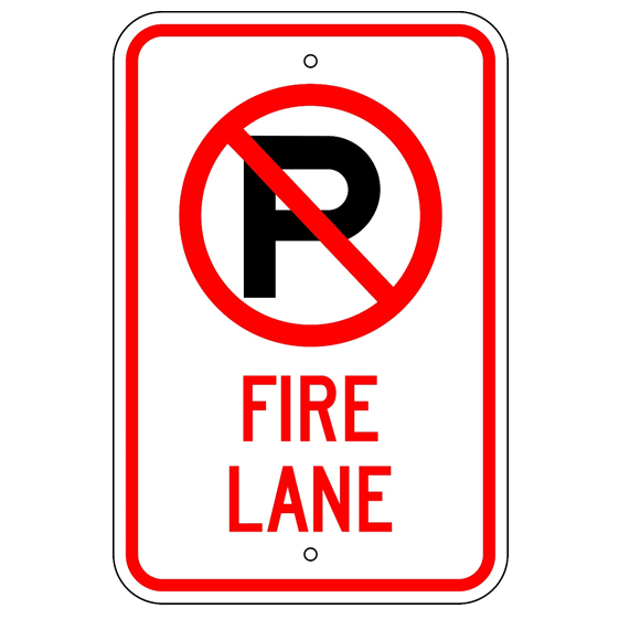 No Parking Fire Lane Symbol Sign - U.S. Signs and Safety