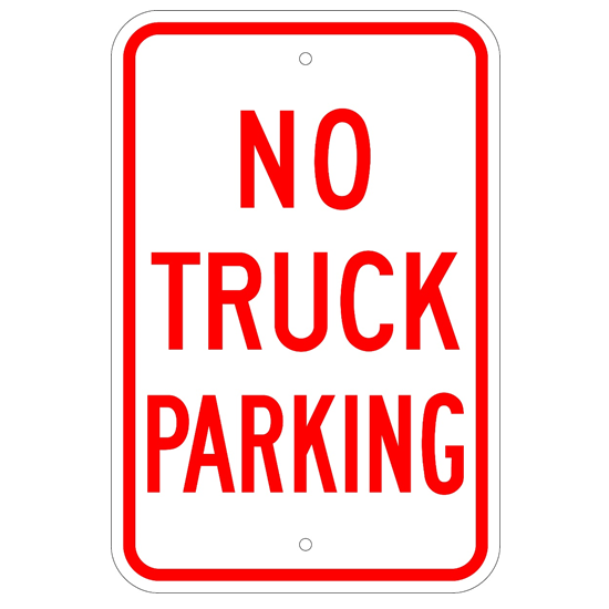 No Truck Parking Sign - U.S. Signs and Safety