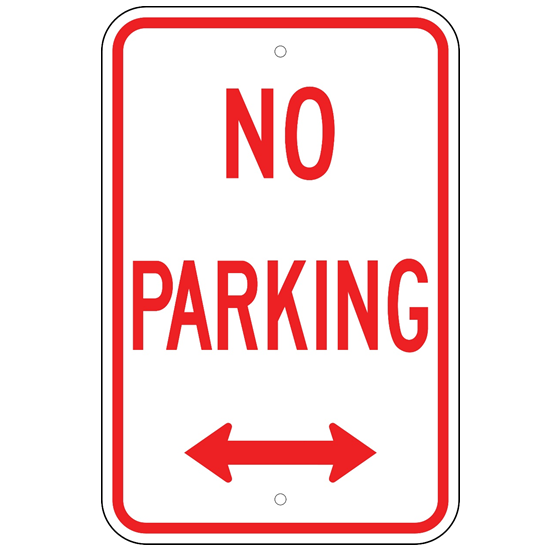 No Parking Double Arrow Sign - U.S. Signs and Safety