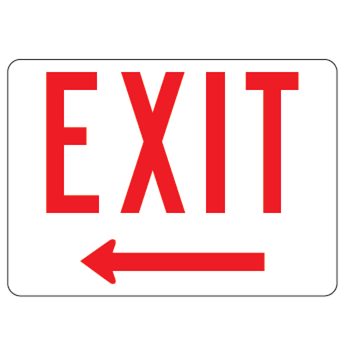 Exit Left Arrow Sign - U.S. Signs and Safety - 1