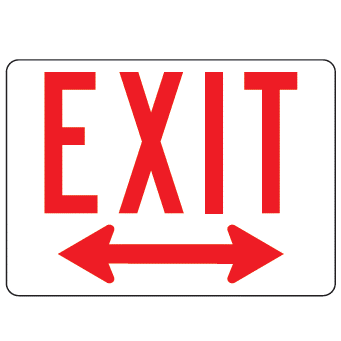 Exit Double Arrow Sign - U.S. Signs and Safety - 1