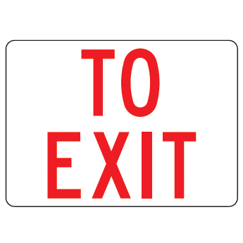 To Exit Sign - U.S. Signs and Safety - 1