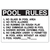Pool Rules Sign - U.S. Signs and Safety - 1
