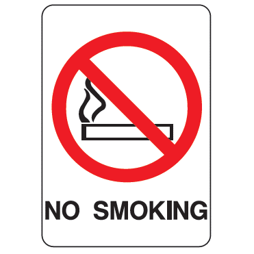 No Smoking Symbol Sign - U.S. Signs and Safety