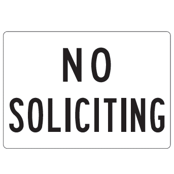 No Soliciting Sign, 10