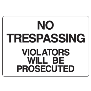 No Trespassing Sign - U.S. Signs and Safety - 1