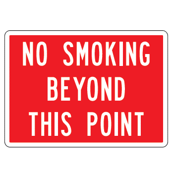 No Smoking Beyond Sign - U.S. Signs and Safety