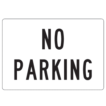 No Parking OSHA Facility sign, 20