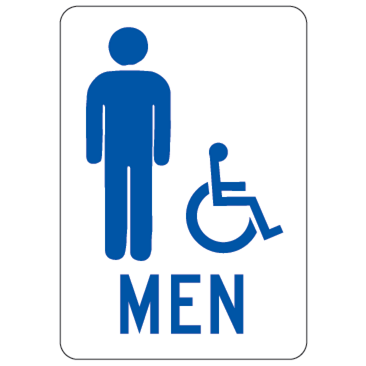 Men Handicapped Sign - U.S. Signs and Safety