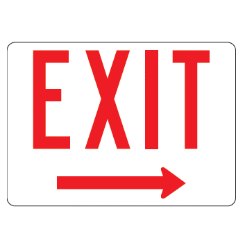 Exit Right Arrow Sign - U.S. Signs and Safety - 1