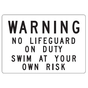 Warning No Lifeguard Sign - U.S. Signs and Safety - 1