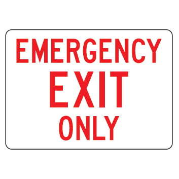 Emergency Exit Only Sign - U.S. Signs and Safety - 1