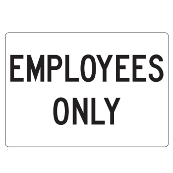 Employees Only Facility Sign - U.S. Signs and Safety - 1