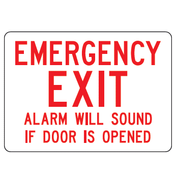 Emergency Exit Alarm Sign - U.S. Signs and Safety - 1