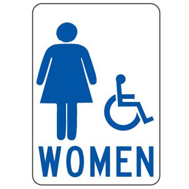 Women Handicapped Sign - U.S. Signs and Safety
