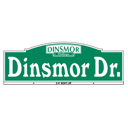 Dinsmore Style Street Name Sign - U.S. Signs and Safety