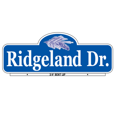 Ridgeland Style Street Name Sign - U.S. Signs and Safety - 1