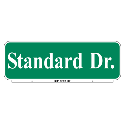 Standard Style Street Name Sign - U.S. Signs and Safety