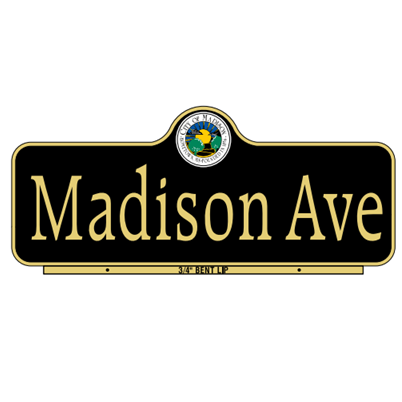 Madison Style Street Name Sign - U.S. Signs and Safety - 1